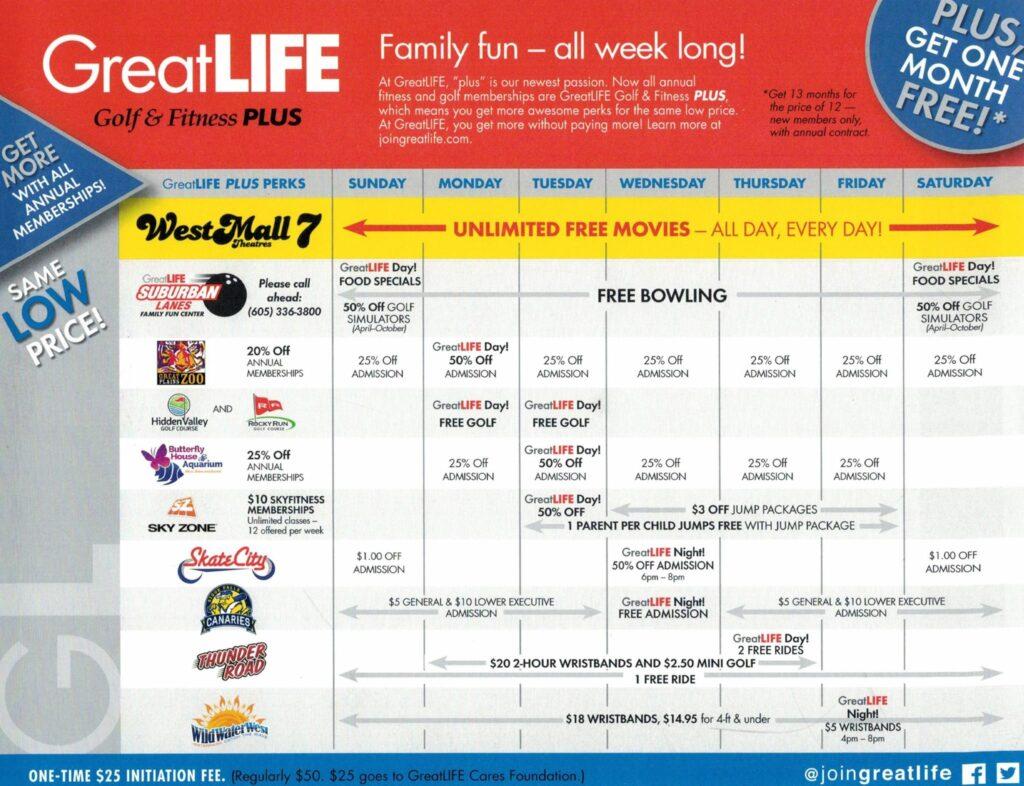 great life schedule